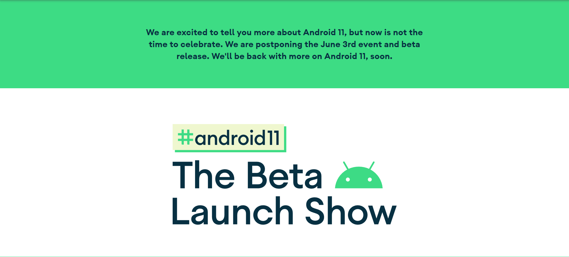 Android 11 Beta Launch Show Android Developers
